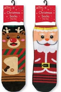 Two pairs of Novelty Christmas Socks