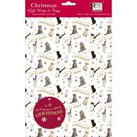 Let it snow Cats Christmas Wrap and Tags