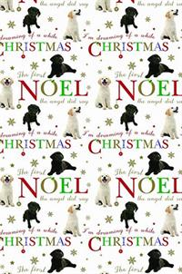 Noel Labrador Pups Christmas Wrap and Tags