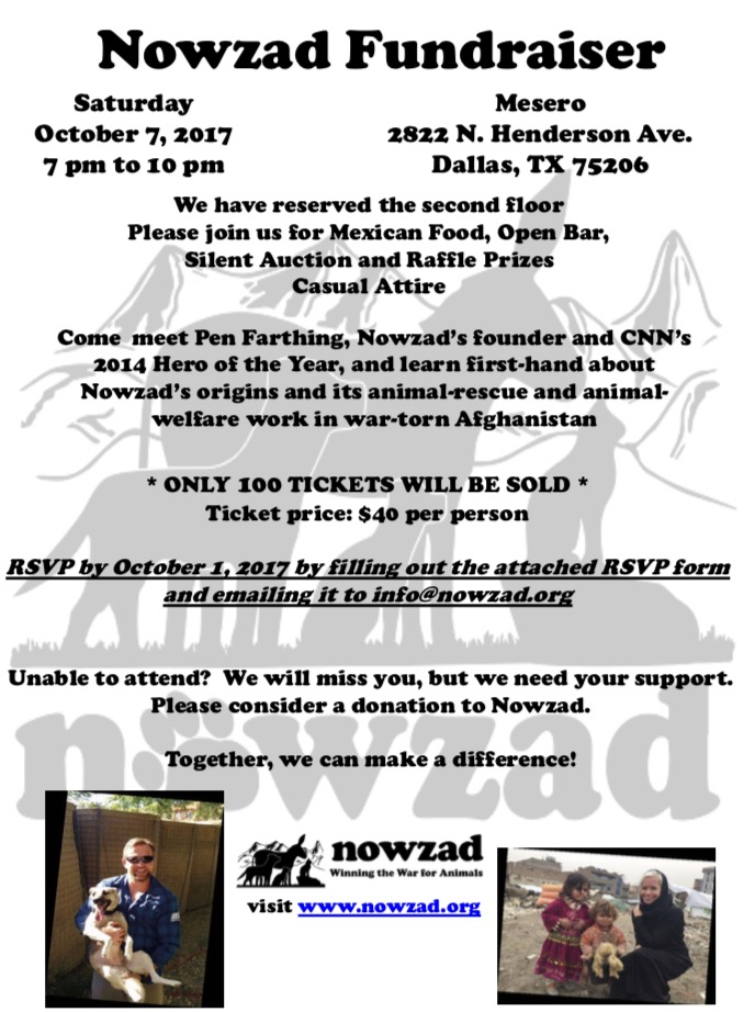 Nowzad fundraiser in Dallas, Texas
