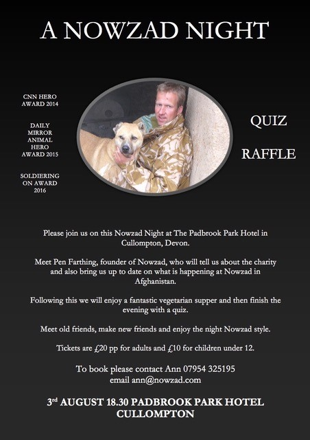 A Nowzad Night 3rd August in Devon