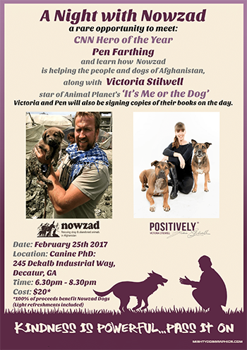 A night with Nowzad and Victoria Stilwell