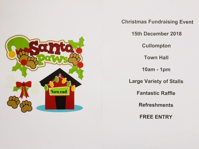 Santa Paws fundraiser 15th December