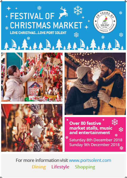 Festival of Christmas Market - Port Solent 8th and 9th December
